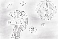 Автор: Аллабердиев Ренат   Космическая одиссея