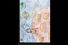 Автор: Цебинога Елизавета   Космическая одиссея