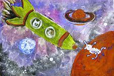 Автор: Гашимова Зульфия   Космическая одиссея