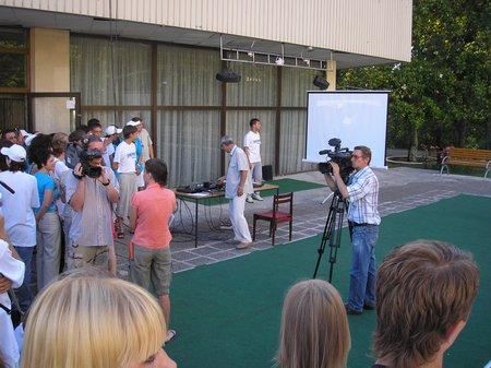 Славянское содружество 2007. Связь с МКС. Первый виток