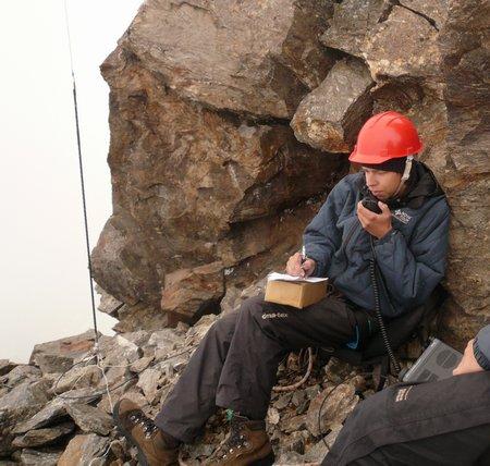 Александр Долженков (ra3wok) Проводит QSO c вершины г. Когутай