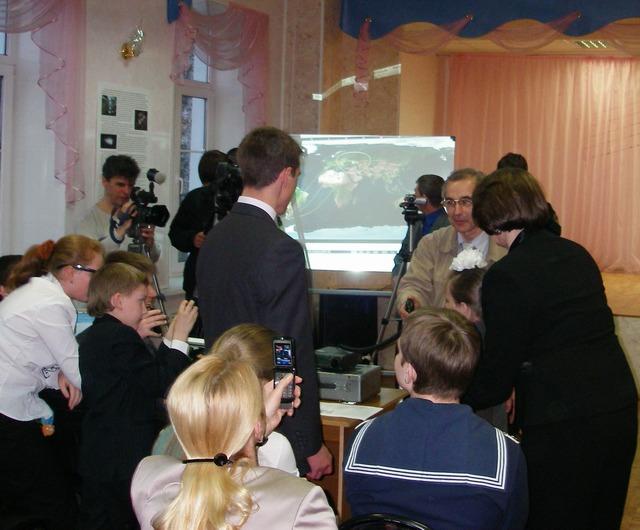 Радиосвязь учащихся МОУ СОШ №18 г. Курска с экипажем МКС