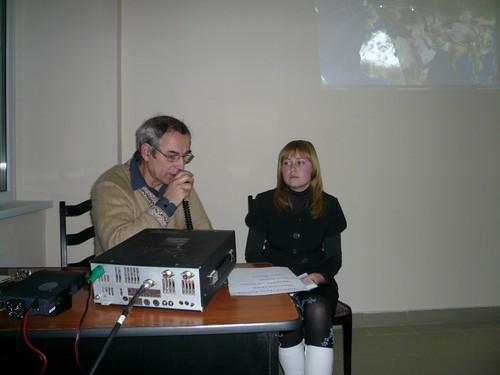 Радиовстреча студентов КурскГТУ с 22 экипажем МКС. Радиоклуб СПОРАДИК
