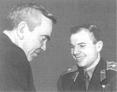 Гагарин и Кренкель