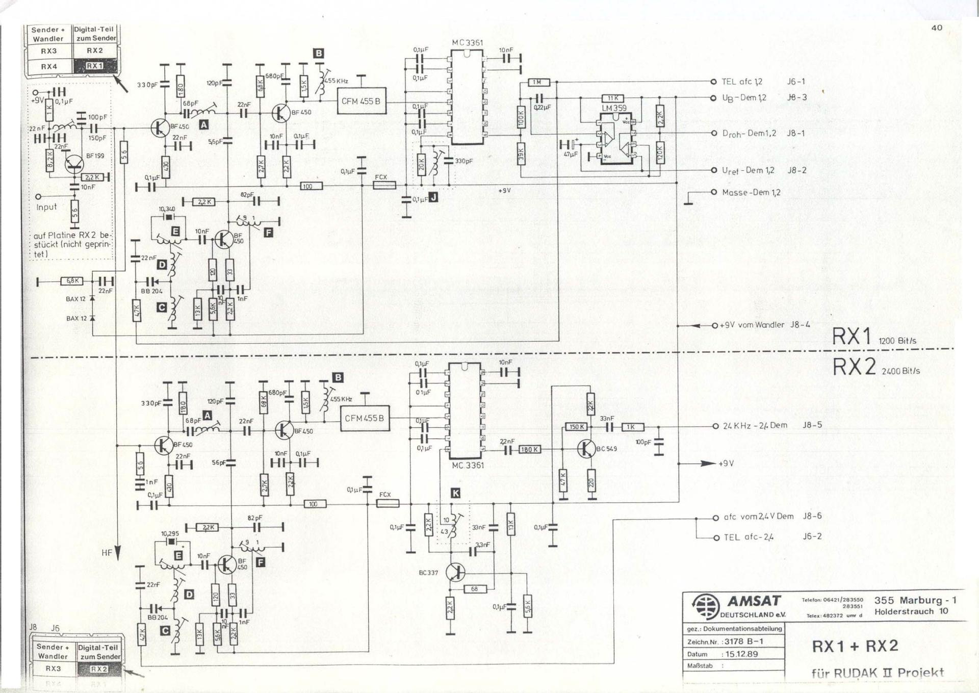 схема приёмников Радио-М1/RUDAK-II
